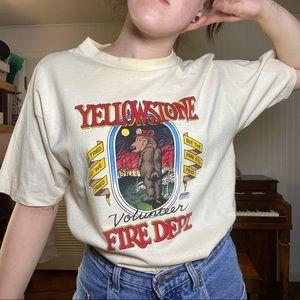 VTG 1989 YELLOWSTONE VOLUNTEER FIRE DEPT TEE // L